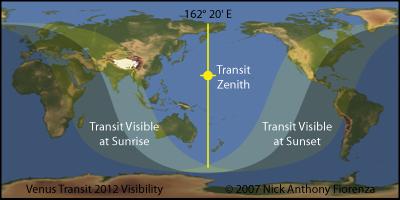 Venus Transit 2012 Visibility / Location