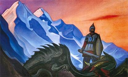 http://uploads2.wikipaintings.org/images/nicholas-roerich/victory-gorynych-the-serpent-1942.jpg