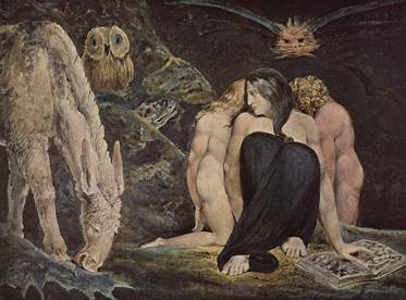 Hecate, a similar Lilith archetype. (William Blake)
