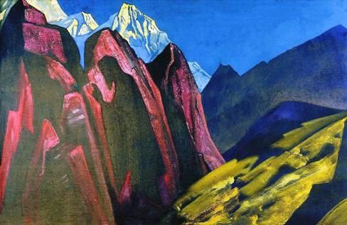 His Shadow, Nicholas Roerich 1932.