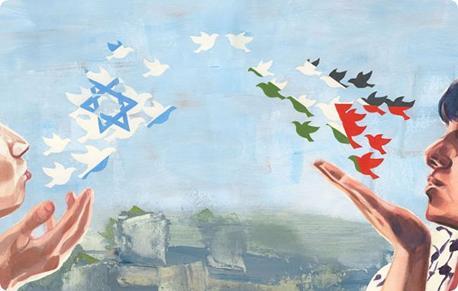 Shalom, Salaam - Peace.