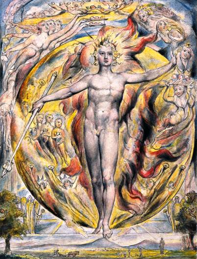 Sun Exalted in Aries (The Sun at His Eastern Gate, William Blake, 1816)