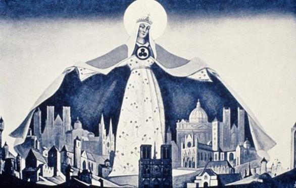 Madonna Protectoris Nicholas Roerich, 1933.