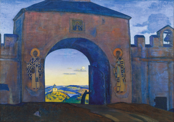 Roerich_-_And_We_are_Opening_the_Gates._From_the_«Sancta»_Series_-_Google_Art_Project