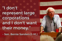 Bernie-Sanders-Doesnt-desejar-Corporate-Money