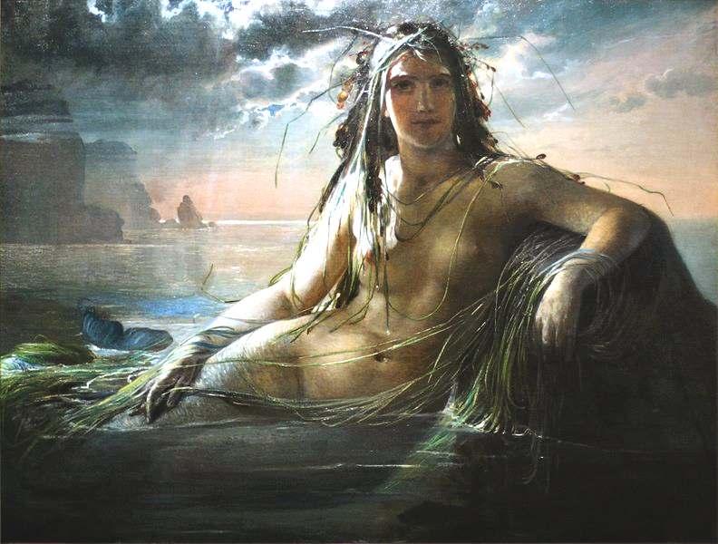Mermaid_Elisabeth_Jerichau_Baumann_havfruen_mermaid_oil_painting_canvas