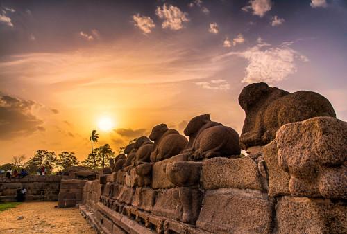 mahabalipuram sunset