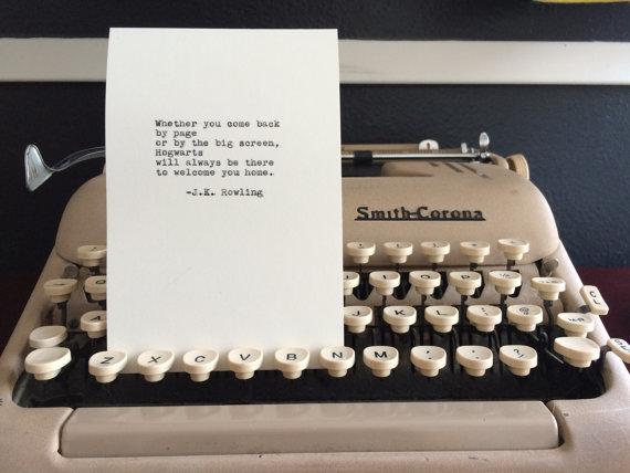 rowling typewriter