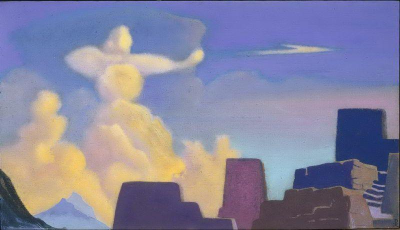 defender-cloud-archer-_nicholas-roerich_symbolism_cloudscape